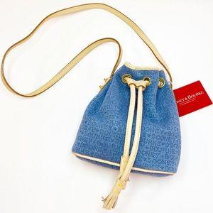 nwt DOONEY & BOURKE denim mini drawstring purse
